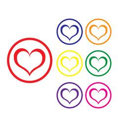 valentine love heart vector background