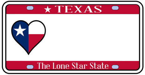 Texas State License Plate