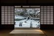 雪の日の京都庭園