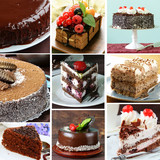 collage of different kinds of chocolate baking