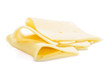Sliced Cheese (isolated on white)