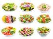 Leinwanddruck Bild - set of various salads