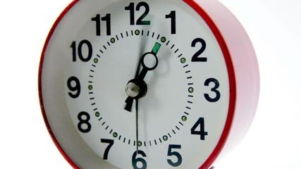 alarm clock fast course of arrows closeup
