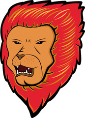 Red Haired Lion