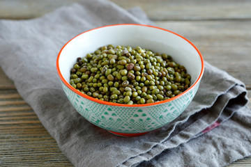 Mung Bean in a patterned bowl