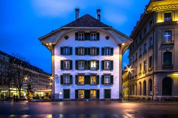 Historic building at Bundesplatz in Bern, Switzerland
