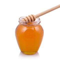 Honey dipper on jar