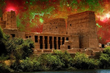 Isis Temple and Galactic center region (Elements of this image f