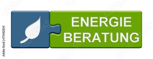 canvas print picture Puzzle Button: Energieberatung