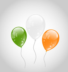 Irish colorful balloons for St. Patrick's Day