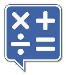 Logo opérations. Calculatrice.