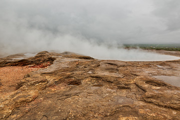 Geyser district, geothermal area in Iceland.
