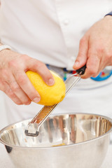 chef making zest