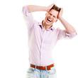 Stress Konzept - Schreiender junger Mann