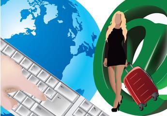 donna in viaggio