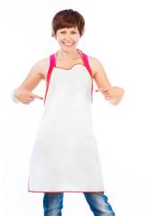 beautiful woman in apron