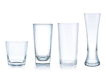 four style empty glass