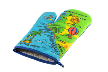 Kitchen tack with the map of the Black Sea on fabric