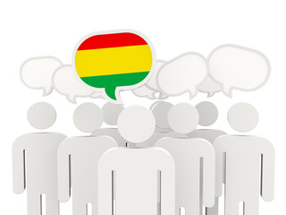 People with flag of bolivia