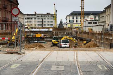 Karlsruhe Marktplatz Baustelle
