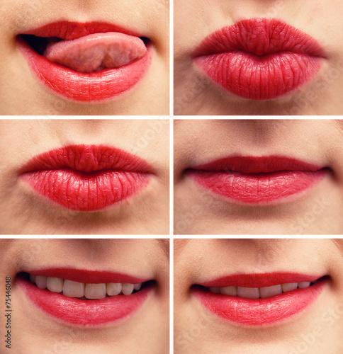 canvas print picture Sexy Lippen