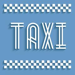 Signalétique taxi.