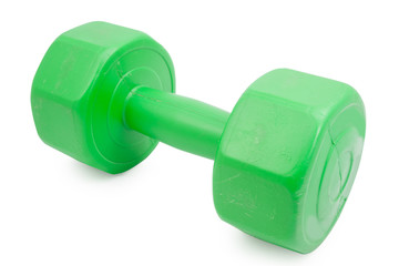 dumbbell isolated on white background