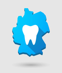 Germany map icon with a tooth
