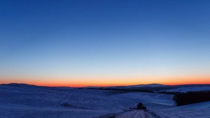 Cold Winter Night Timelapse 4K - Panning