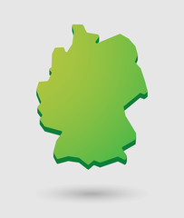 green Germany map icon with a