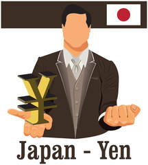 Japan national currency Japanese yen symbol representing money a