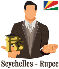 Seychelles national currency rupee symbol representing money and