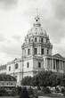 Invalides, Paris - black and white image