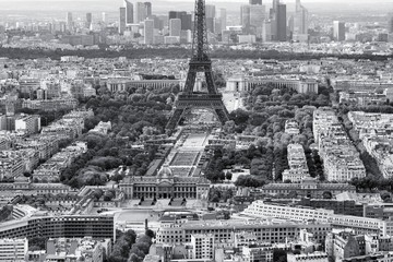 Paris, Eiffel Tower - black and white image