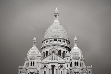 Monmartre retro - black and white image