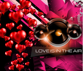 Happy Valentine's Day background with lovely Hearts
