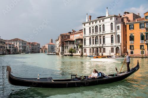 In de dag Gondolas Gondole Gondoliers à Venise grand canal