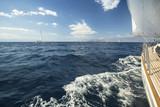 Sailing. Yachting. Tourism. Luxury Lifestyle.