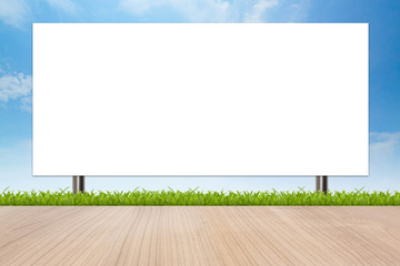 Banner advertising a large signs with isolated white space