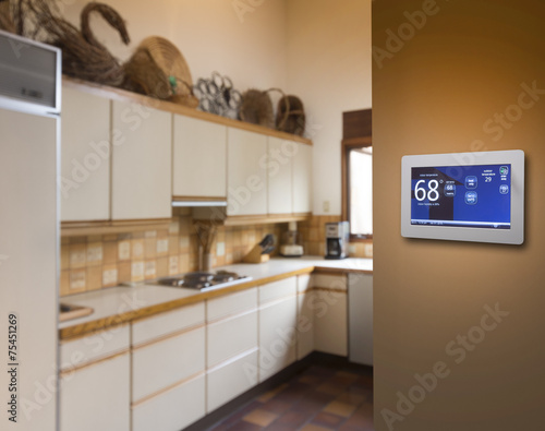 Programmable home thermostat - 75451269