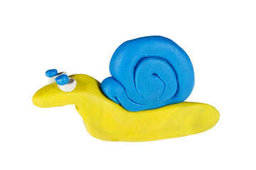 Snail created from plasticine