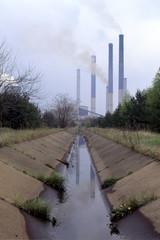 Abwasser Kanal einer Industrieanlage