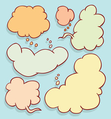 speech bubbles collection, vector illustration.