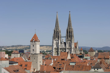 Stadt Regensburg in Bayern