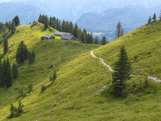 Alm und Berghütte in Bayern