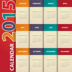2015 Modern calendar template .Vector/illustration.