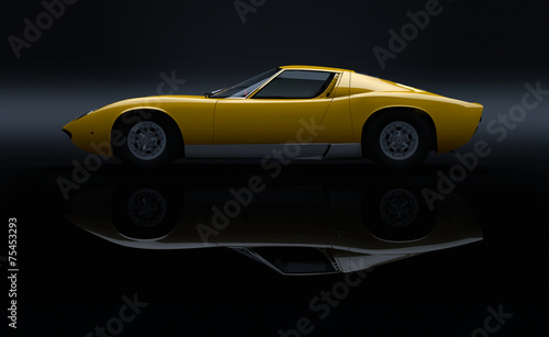 Fotobehang Vintage cars carscene 116