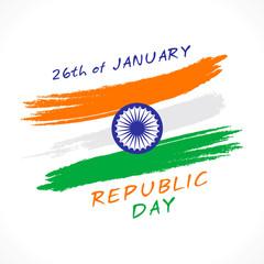 happy india republic day greeting design vector