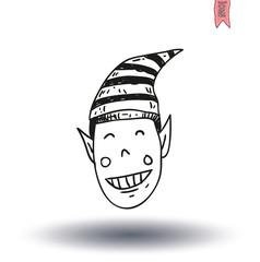 Cartoon Christmas elf. vector illustration.