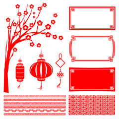 Happy chinese new year 2015 decoration element for design vector